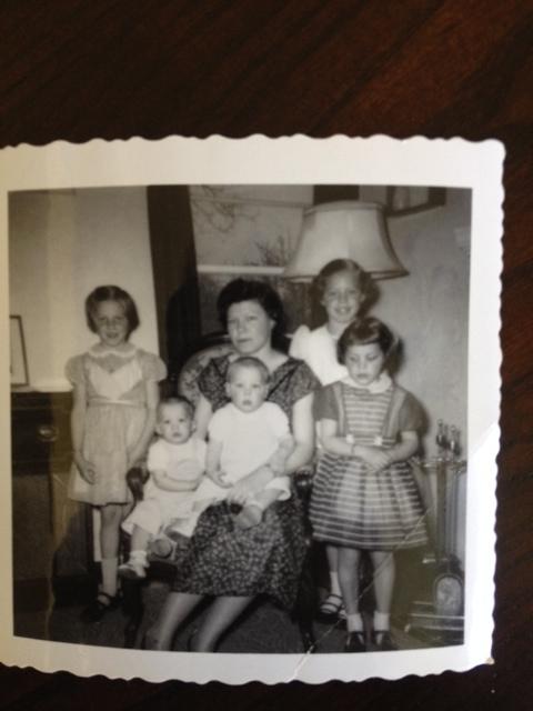 Mom and us five kids c. 1955
