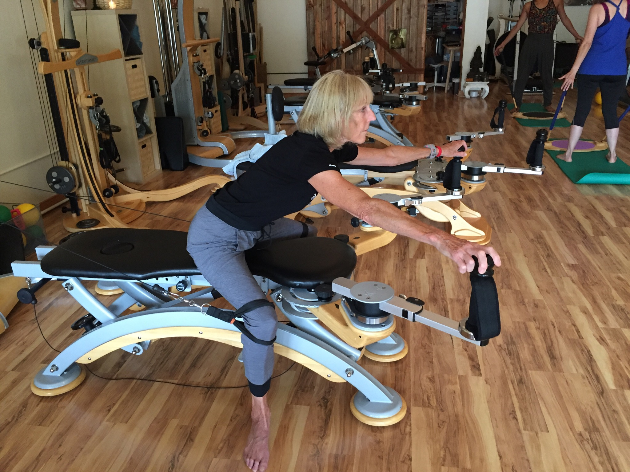 Gyrotonics sessions were/are a life saver, helping loosen shoulder, flex arm, any type of movement!