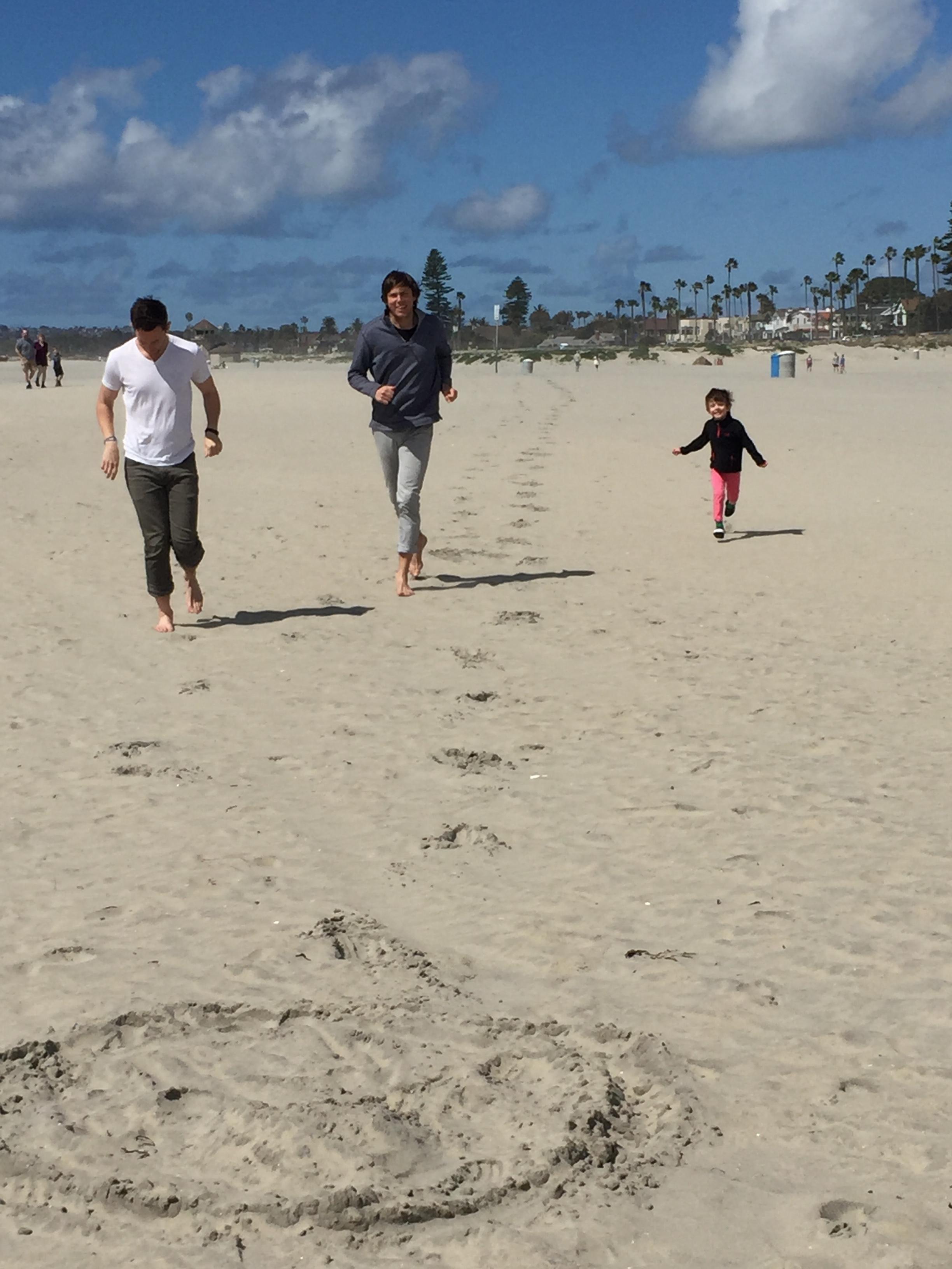 Run with joy: Alex, Christopher and Solomon.