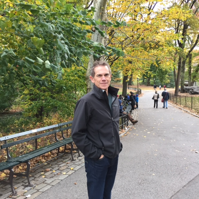 Doug in Central Park, NYC, where our married life began and where we love to visit, c. 2017