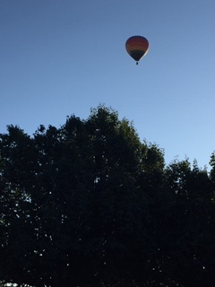 Hot air balloon before the race started.