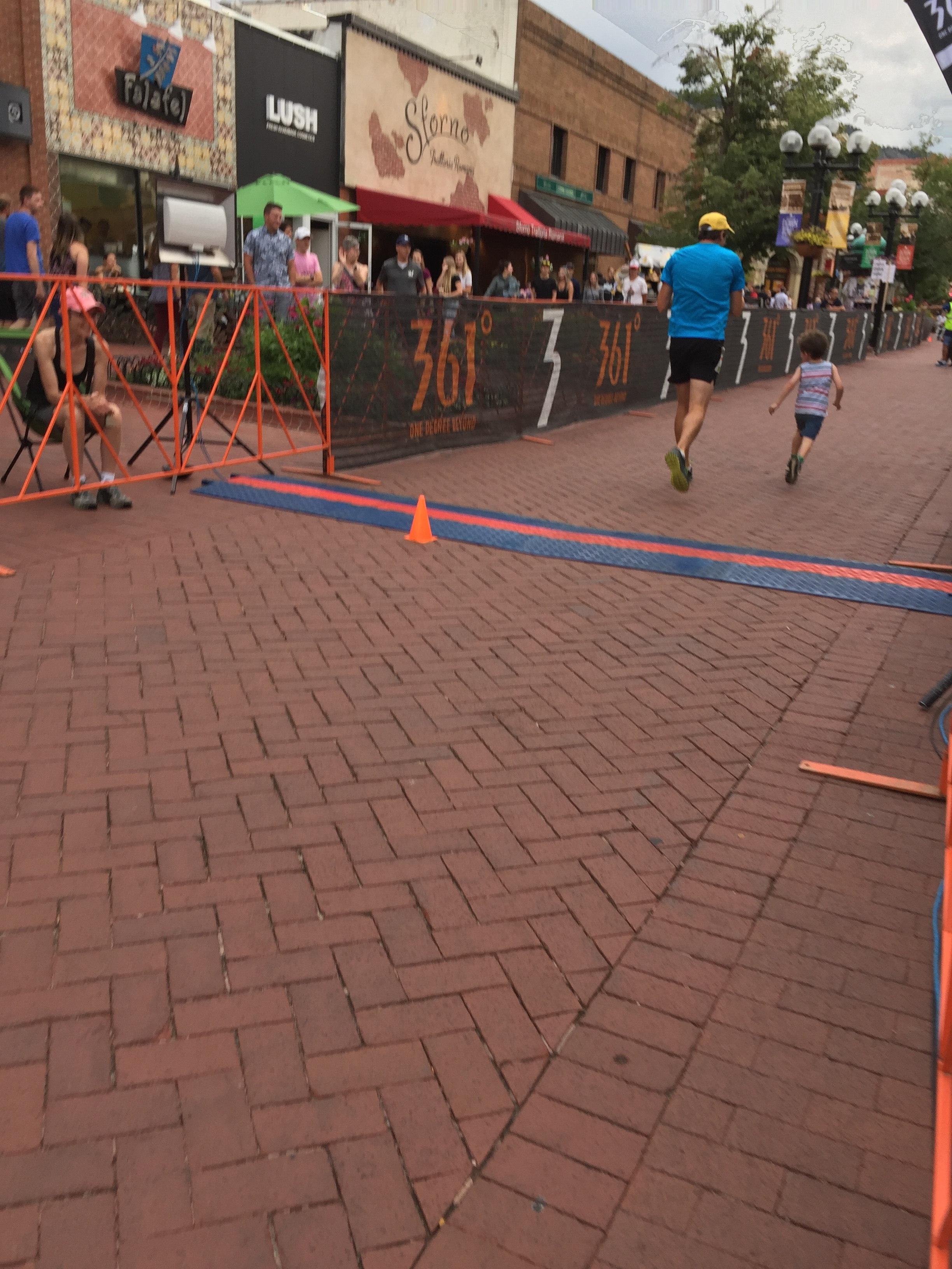 Still running past the finish line!