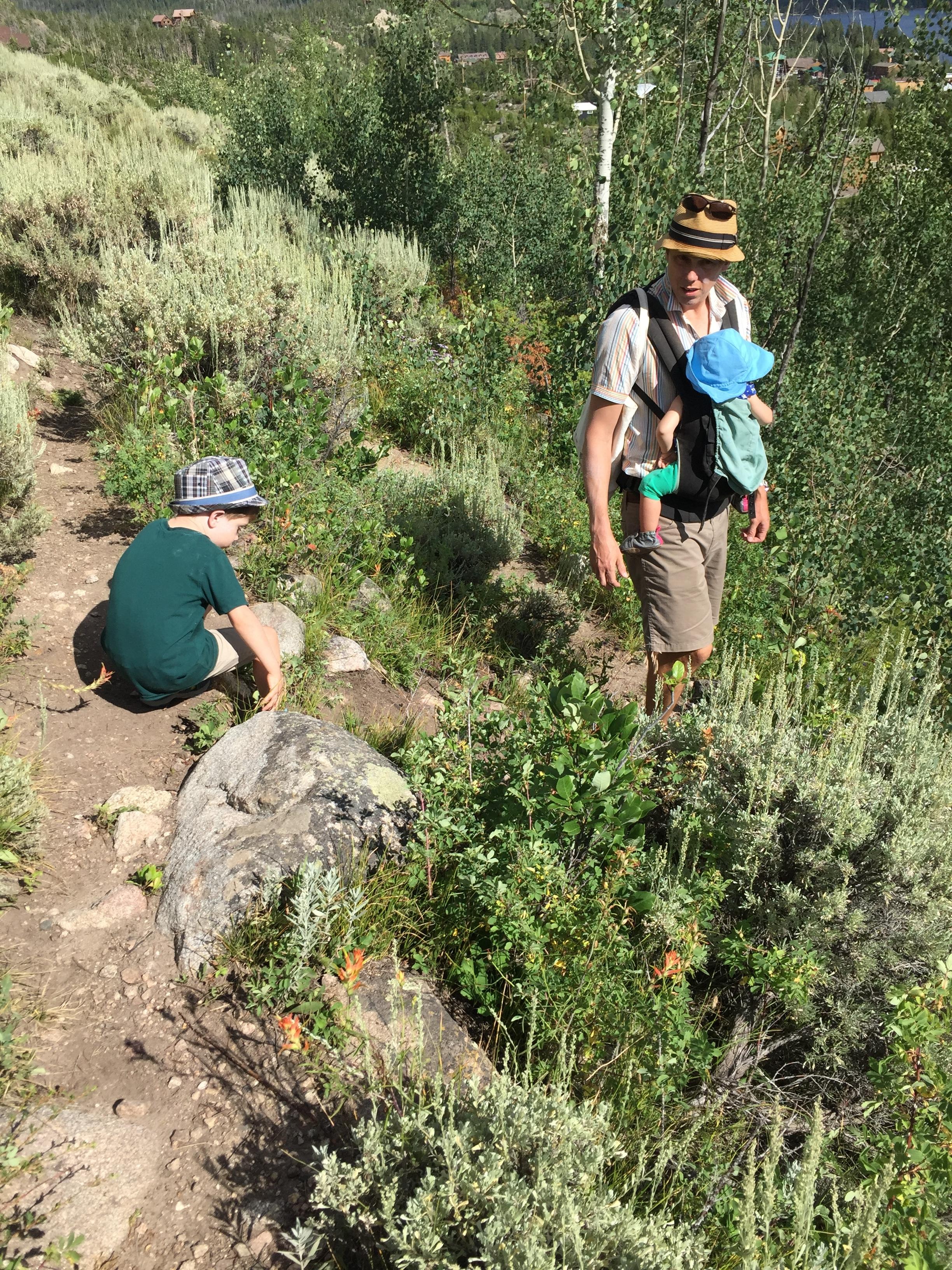 Hiking at 8700'.
