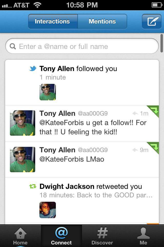 That's right, I still have the screenshot of when Tony Allen followed me on Twitter in 2012.