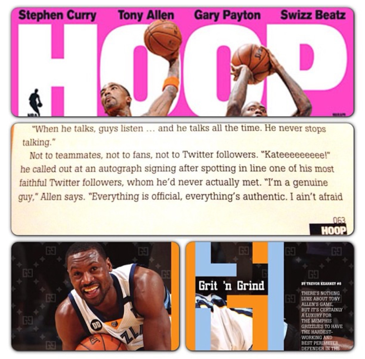 #TBT to that time that I was mentioned in Hoop Magazine. It still makes me smile. (It wasn't the first time we met, but I didn't tell Tony who I was the first time we met. I was too nervous!)