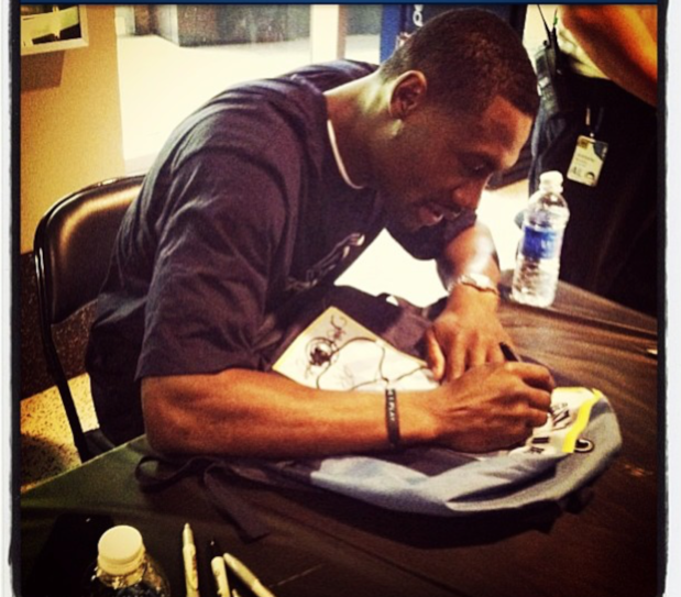 Tony signing my Grizz backpack.