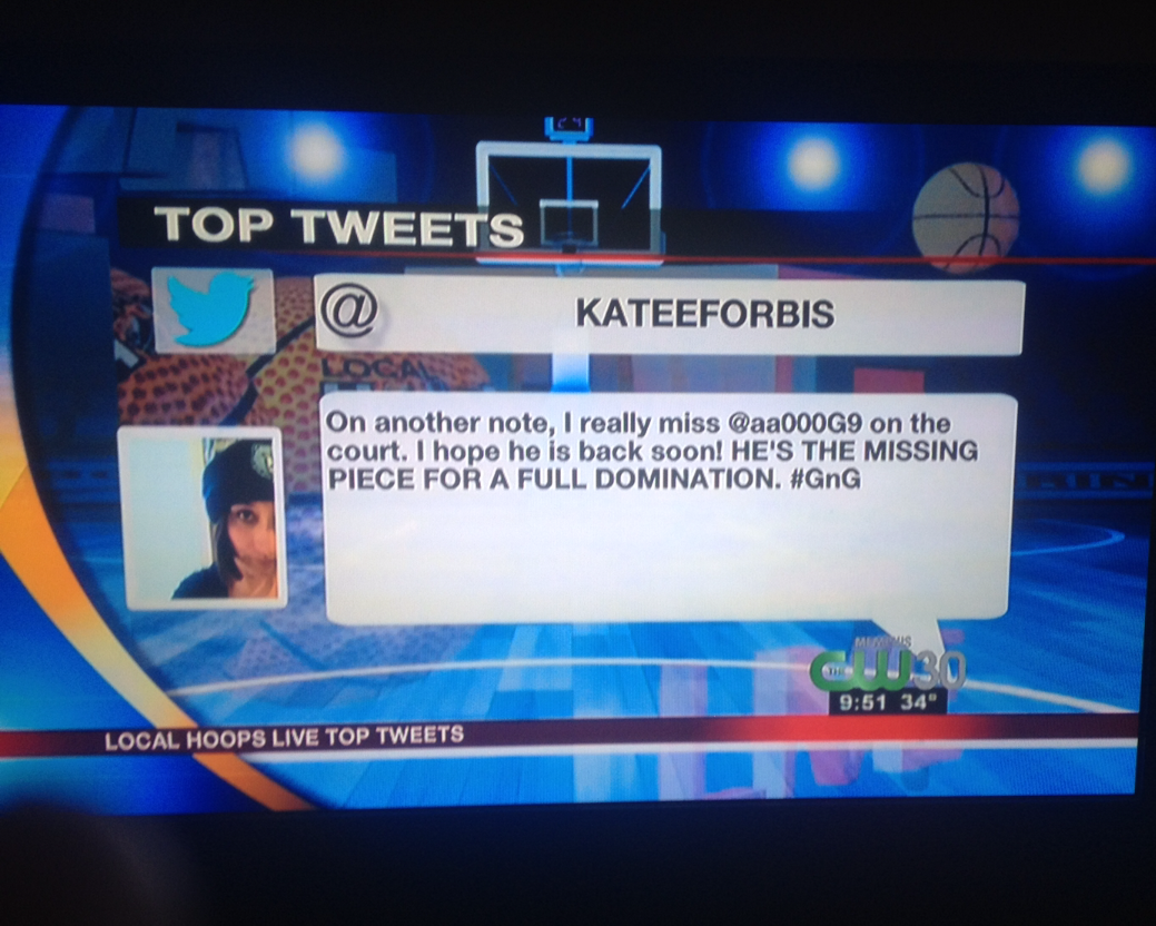 When you tweet about Tony Allen so much that you make the local news.