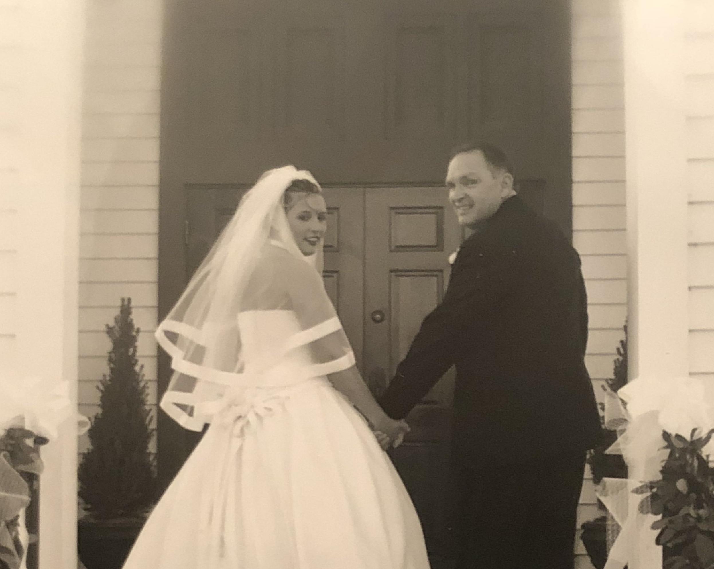 Dad and me on my wedding day in 2004.