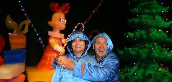 Mom and Dad at Dr. Suess' Ice World in Nashville. Dad loved to travel and have fun.