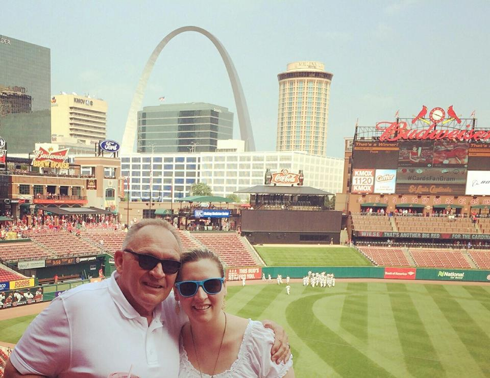 Me and Dad at a St. Louis Cardinals game in 2015.
