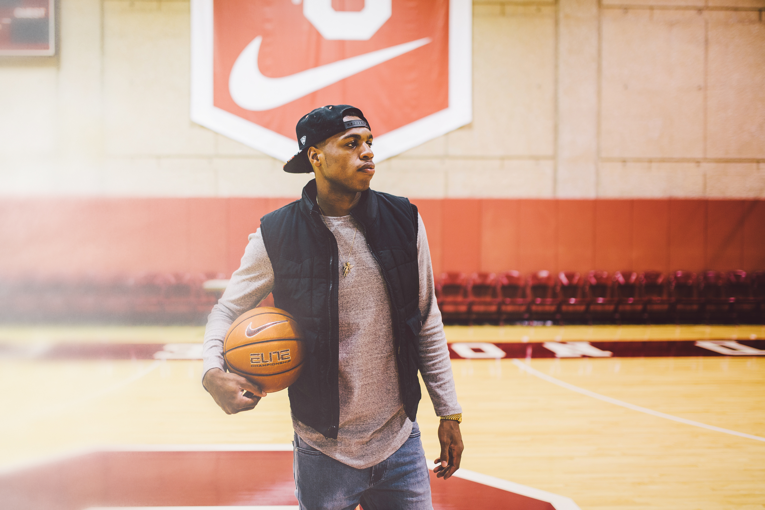 @hipstarod ,  Casual Jacket Photography  (Exclusive behind the scenes photos of Buddy Hield in the practice facility at The University of Oklahoma).