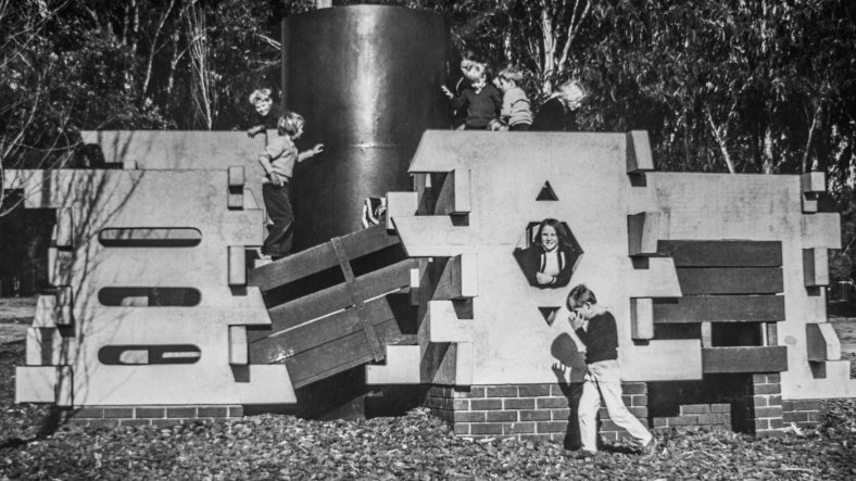 The Maze at Weston Park in the early 1980s. Image courtesy of the Canberra Times.