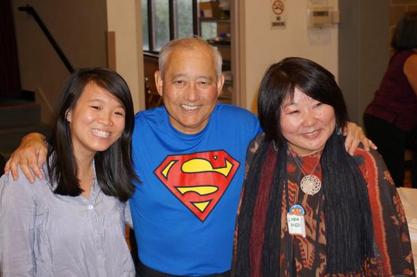 Above: Vivian, Al, and Linda pose for a photo at Al's appreciation event.
