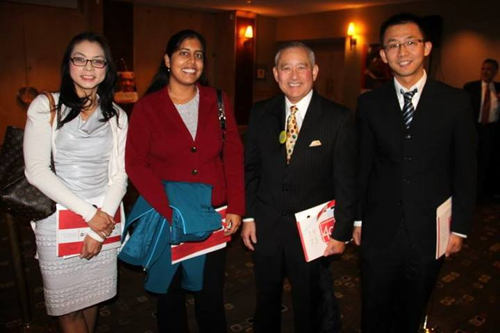 Left to Right:  Doreen Ramsuta, Alpana Ranade, Al Sugiyama, and Lu Yue attend an ACRS event together.