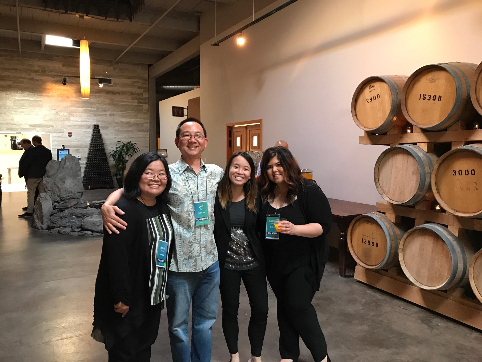 EDI alum, Jeff Tan, poses with the staff at 2017 Inclusion Fusion.