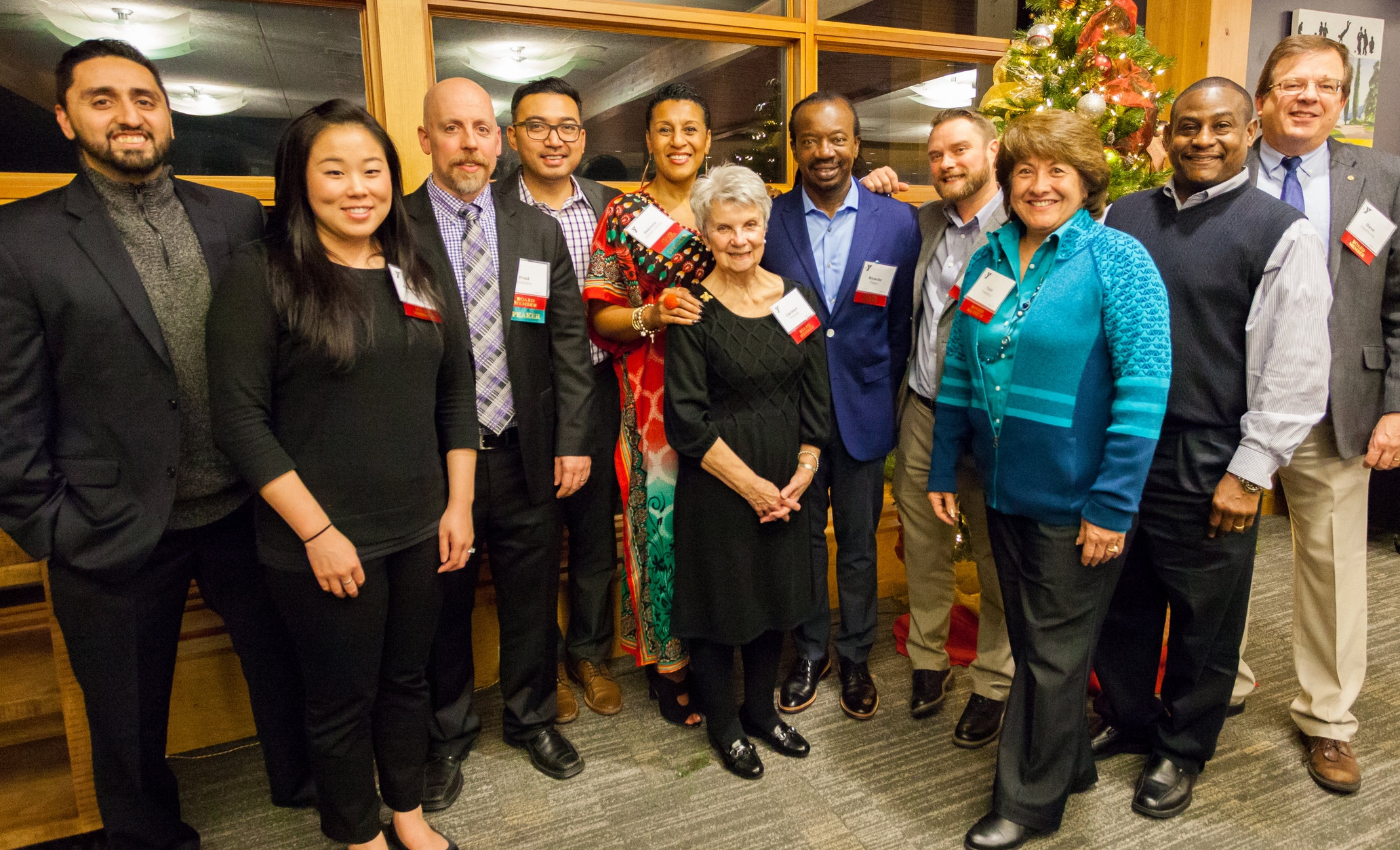 Katherine Tsai Martinez  (2nd from left) with the Matt Griffin YMCA Board  Puget Sound Discovery, Class of 2017