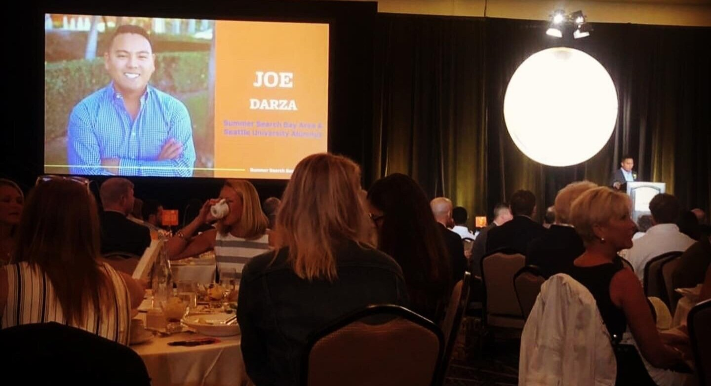 Joe flew back to Seattle from Los Angeles to be a speaker at the Summer Search gala!