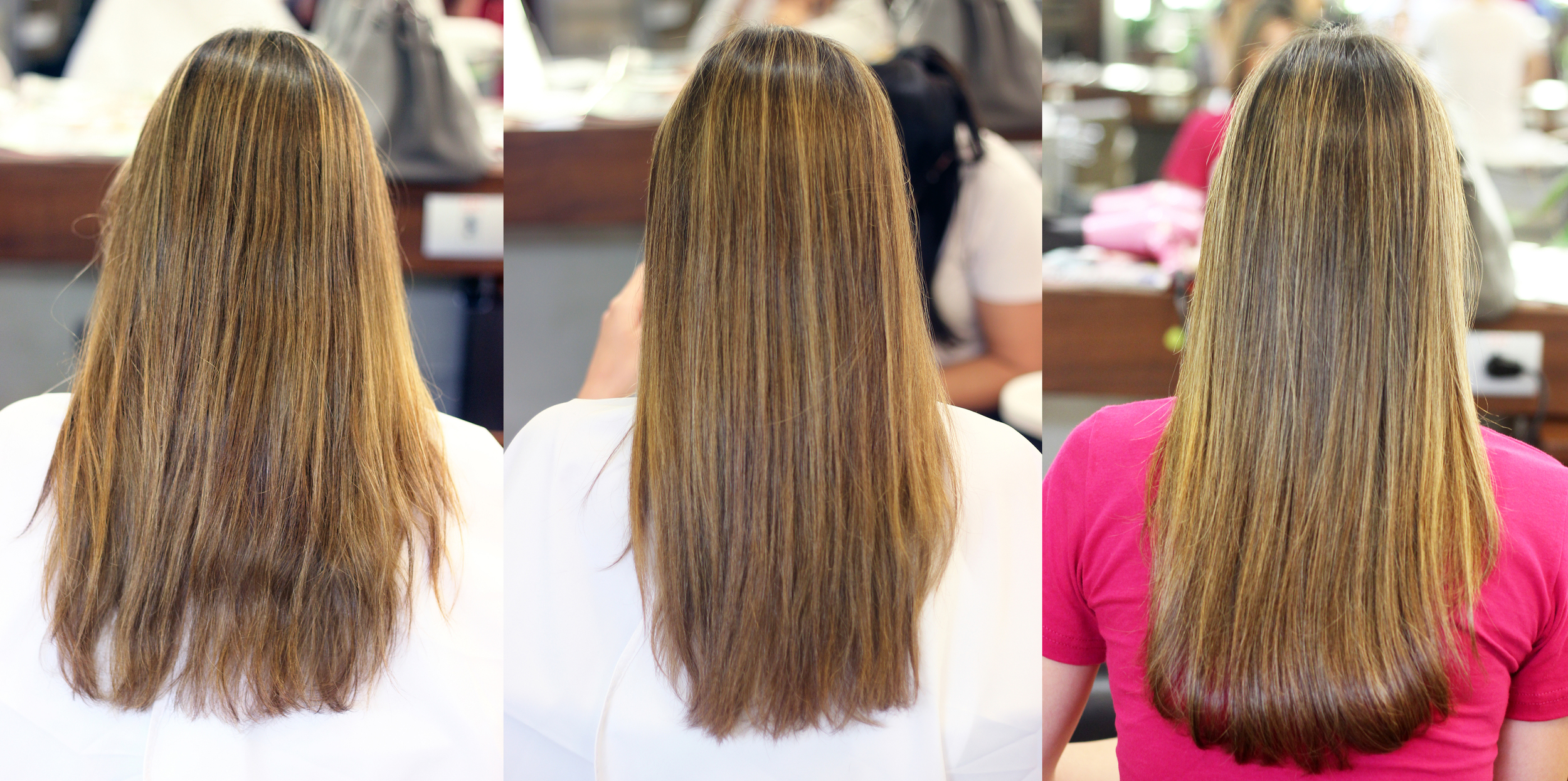 *Antes e depois do combo:  Tratamento Multivitaminas  +  Tratamento Bordado