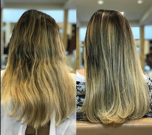 Uma salva de palmas 👏🏻👏🏻 para esse resultado, após os tratamentos Bordado, Laser, Multivitaminas e Infusão Capilar para recuperar a saúde dos fios.  Aproveite amanhã o nosso último dia de Day Moon. Confira nos stories os pacotes especiais. Esperamos por vocês! ❤️ . . . #spadeiaerenata #beforeandafter #antesedepois #daymoon #luacheia #fullmoon #cabelos #hair #hairstyle #beauty #beautiful #spa #lua