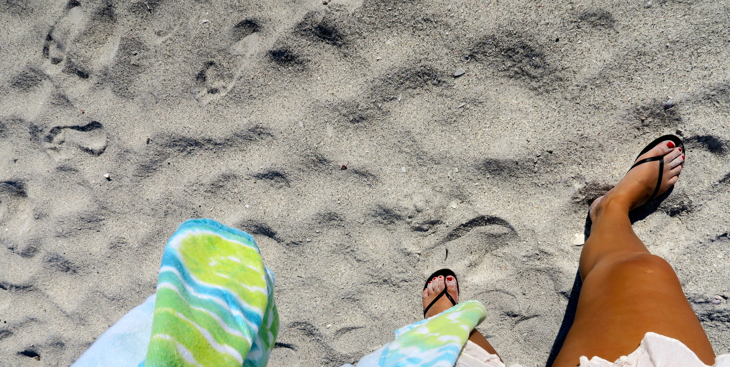 FEET IN THE SAND, ANNA MARIA ISLAND, FL