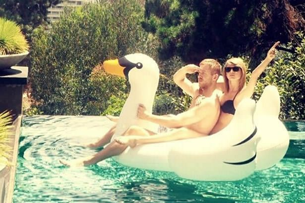 Taylor Swift, Calvin Harris and Swan