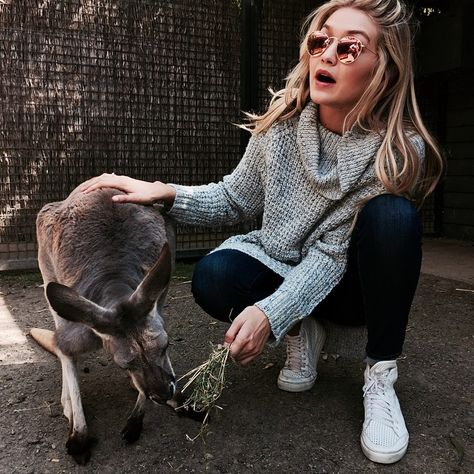 gigi and a kangaroo