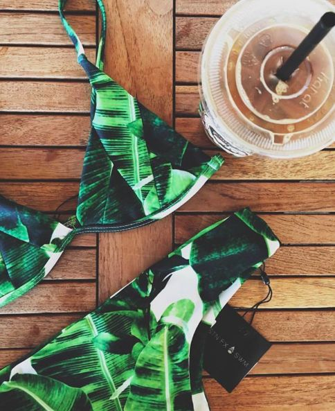 Stone Fox Swim Banana Leaf Print