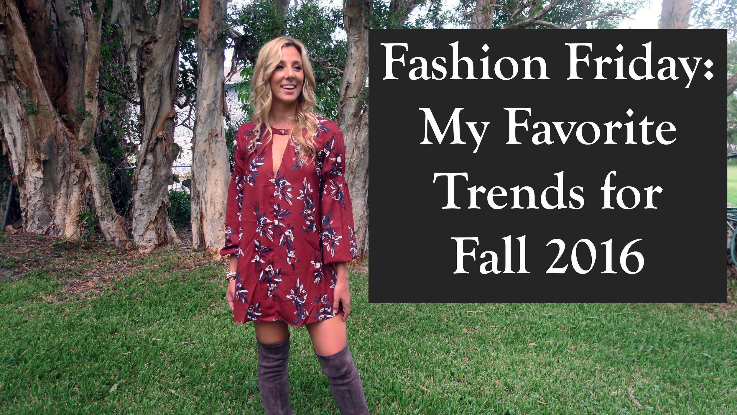 Fashion Friday | My Favorite Fall 2016 Trend