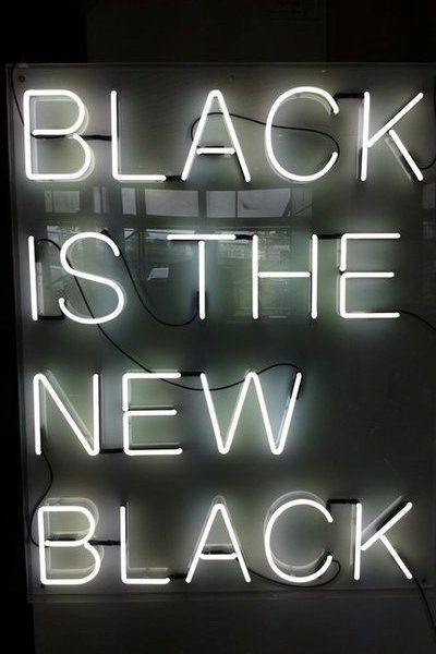 it's still black
