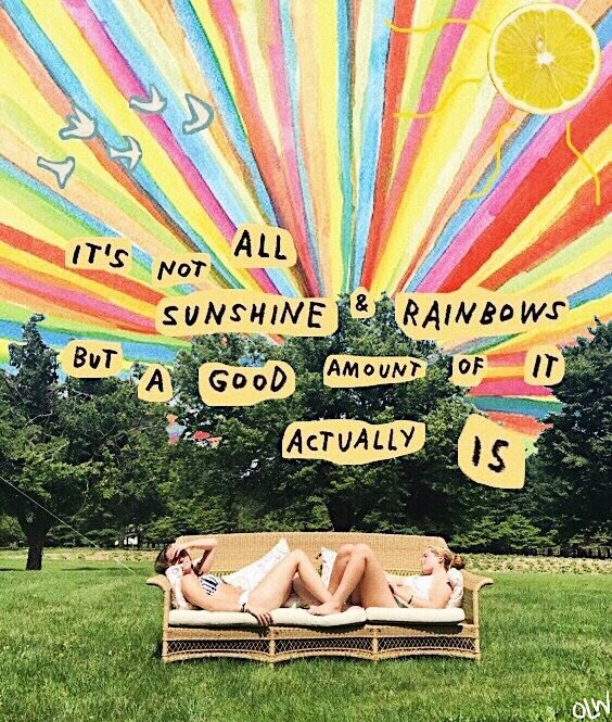 sunshine & rainbows