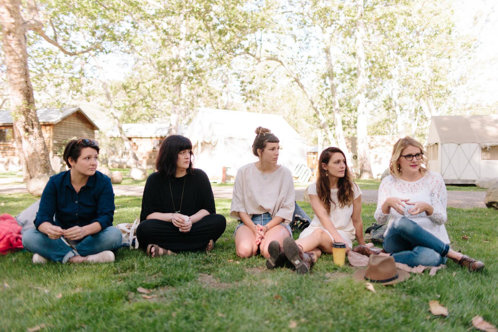 family photography gurus: Brooke Schwab, Posy Quarterman, Yan Palmer, Becky Earl, and Kristin Rogers.