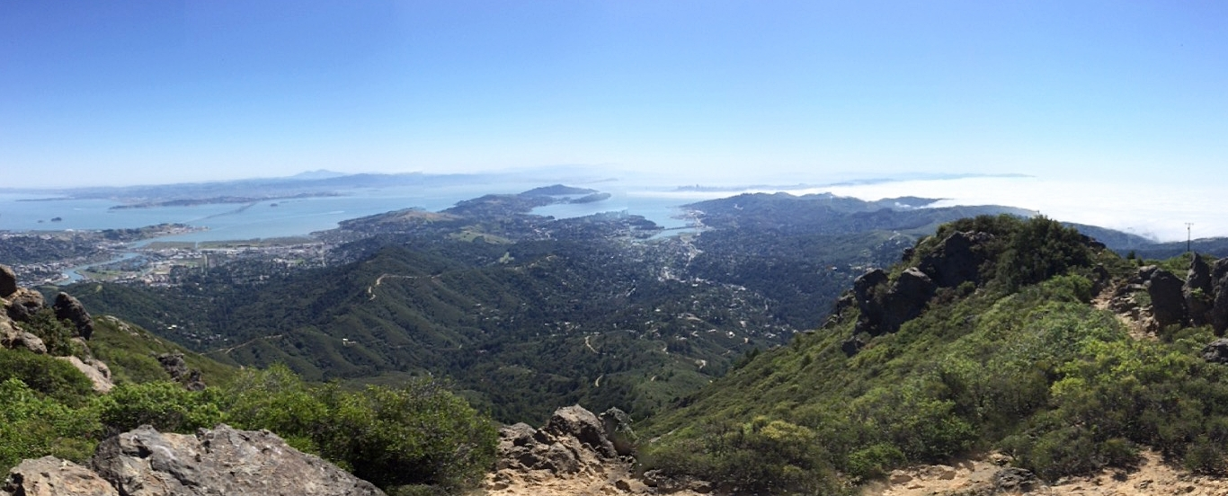 The view from Mount Tamalpais in Marin, California, while on a prayer hike.