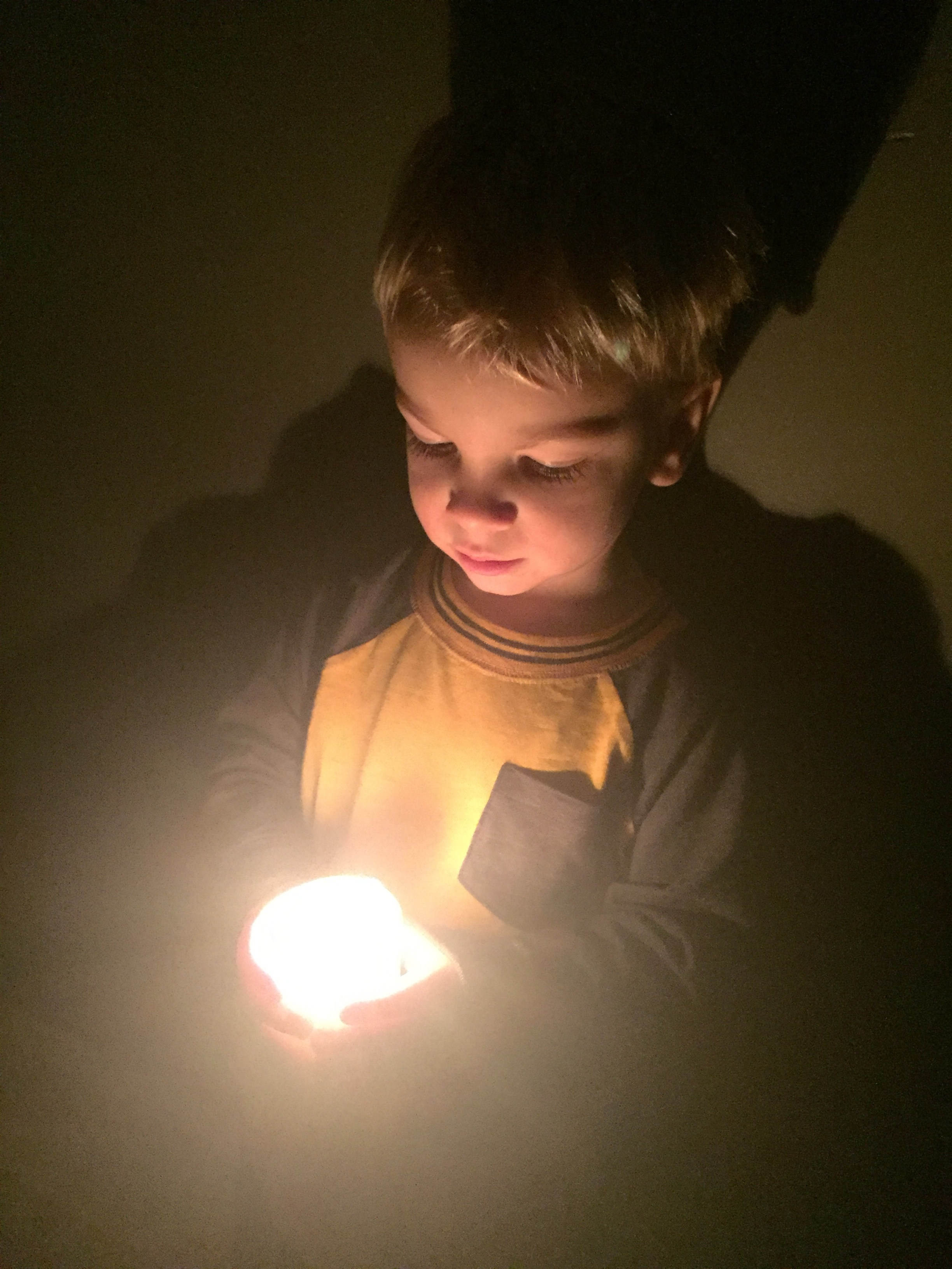 My son Lukas - Feeling the light.