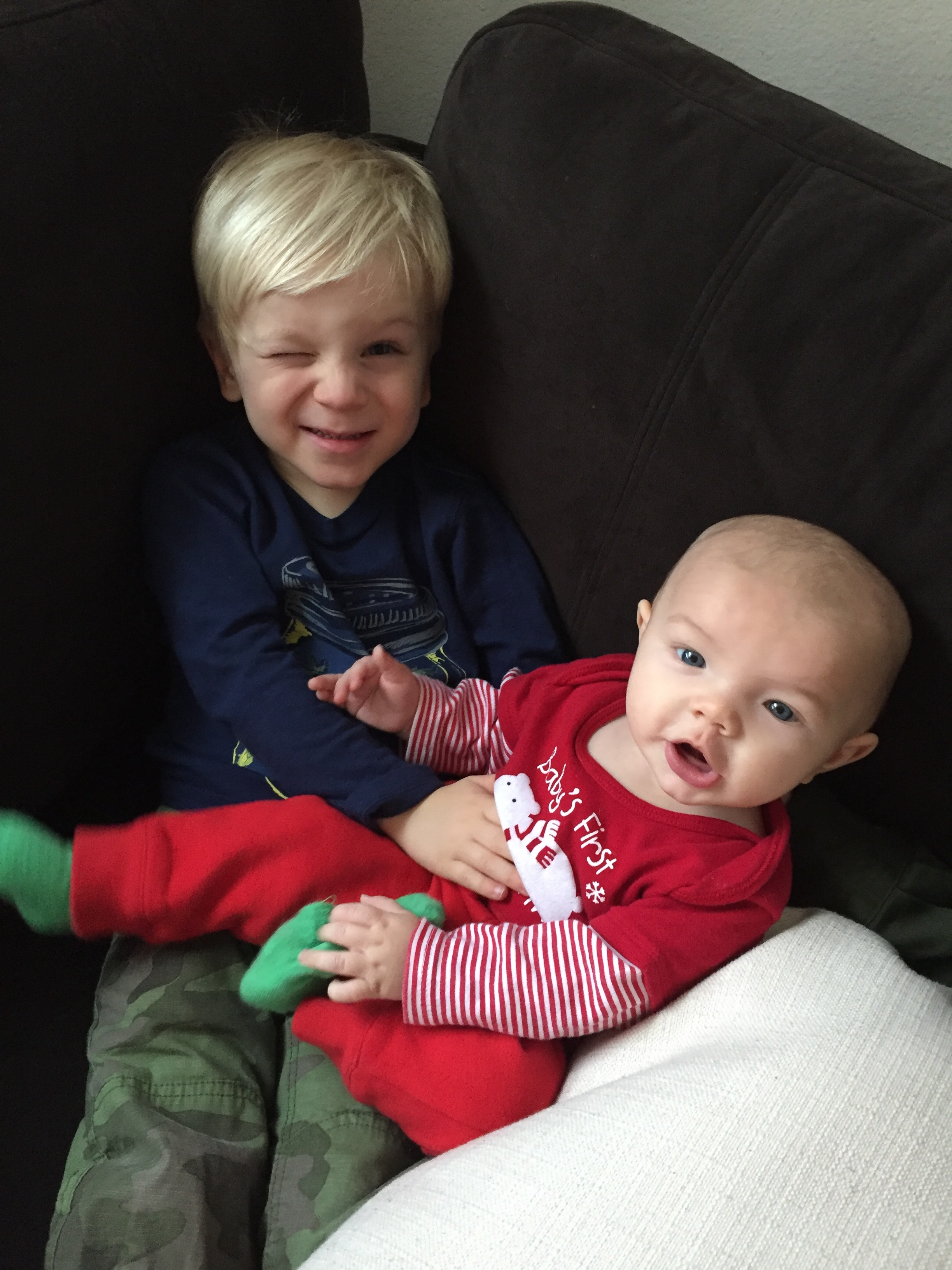 Boden - Holding his baby cousin