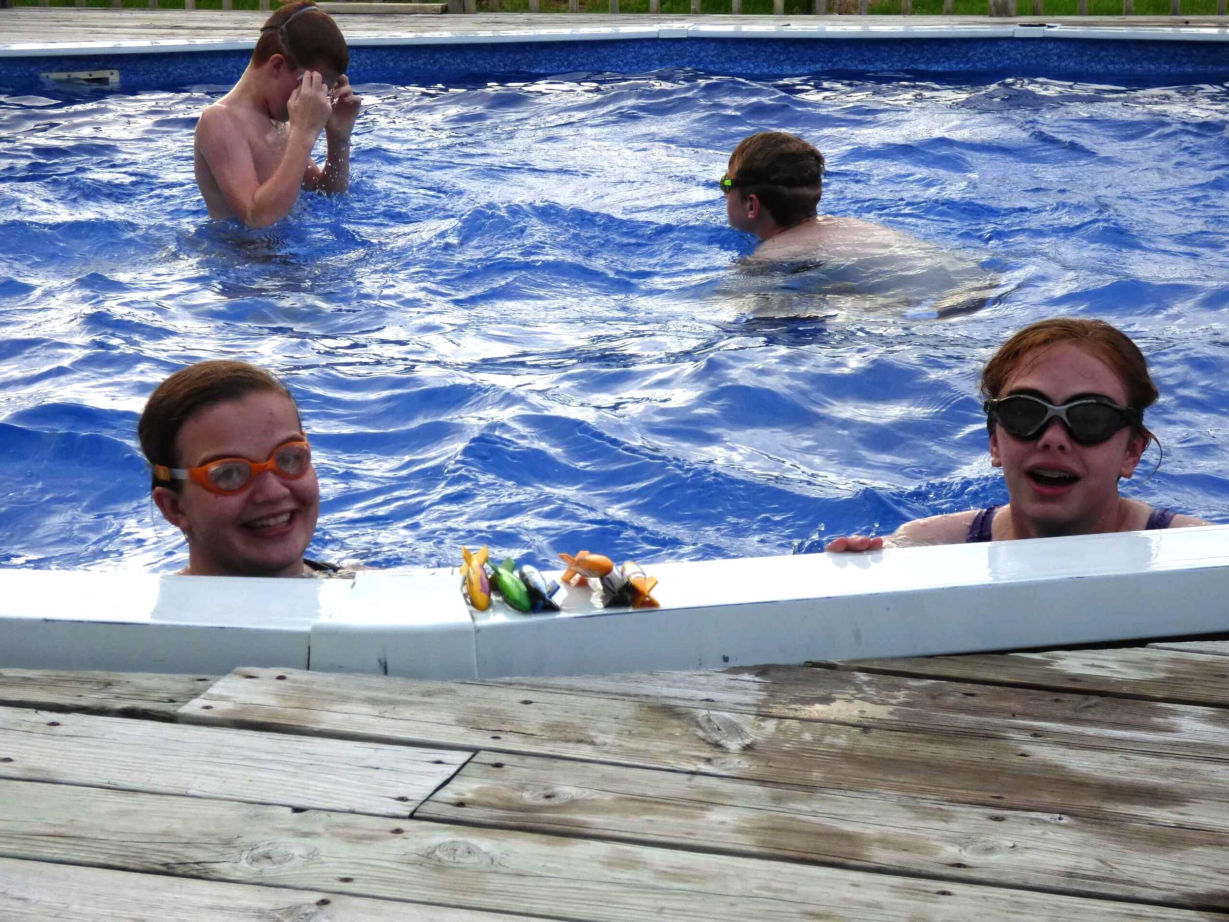 summer fun at the pool