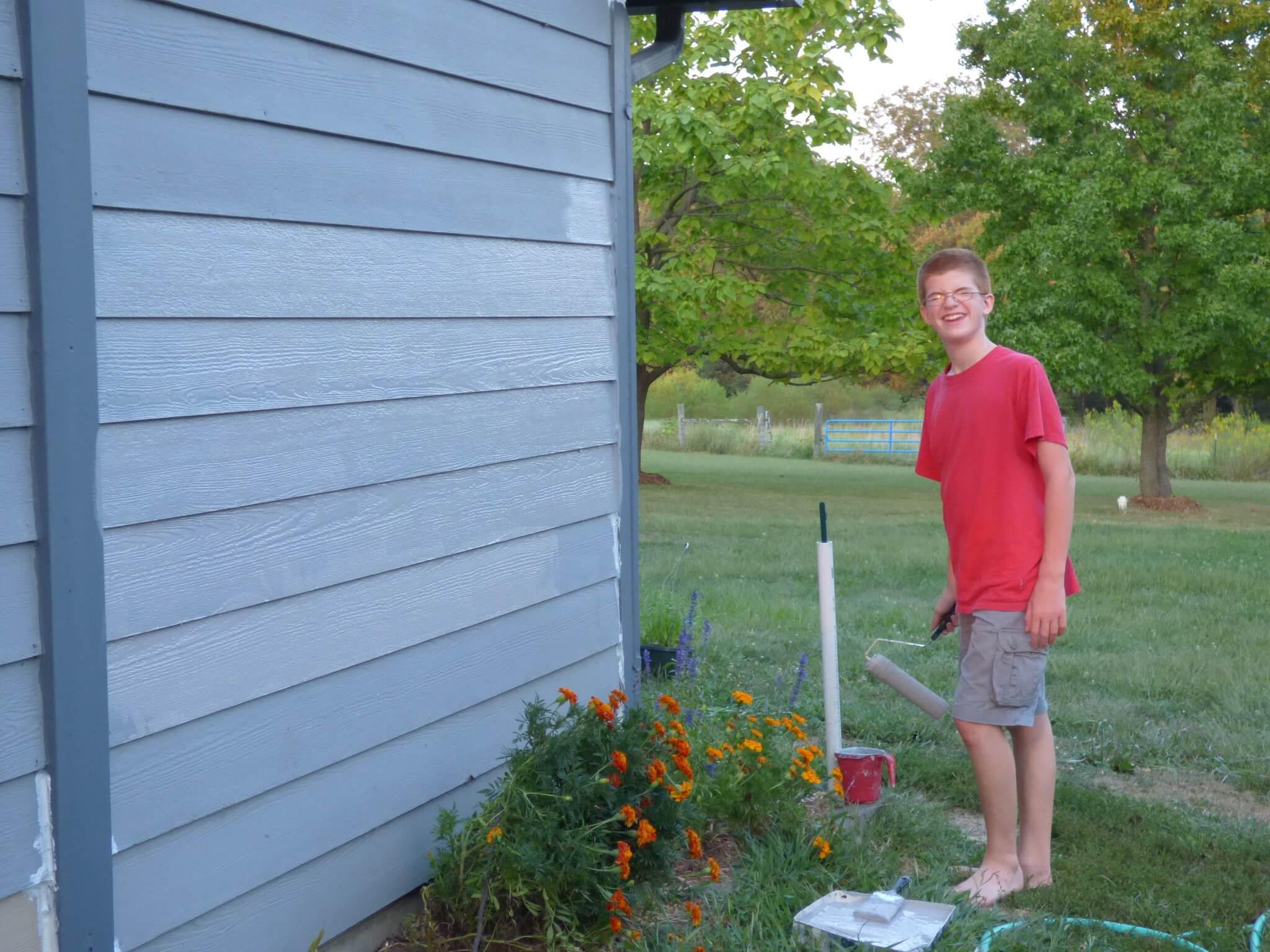 Paint Exterior of House - DaytoDayAdventures.com