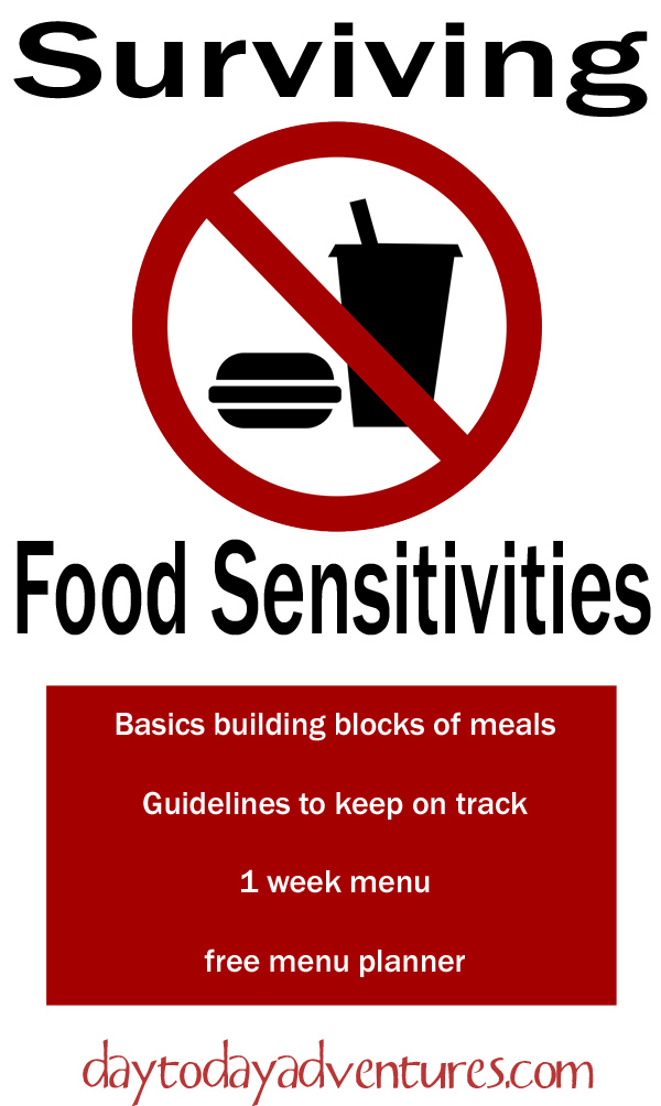 Surviving Food Sensitivities - DaytoDayAdventures.com