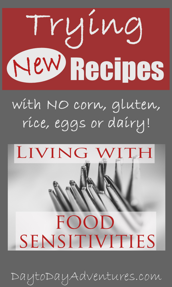 Trying New Recipes when you have food sensitivities - DaytoDayAdventures.com