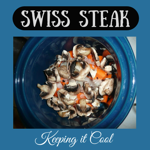 Swiss Steak Crockpot meal - DaytoDayAdventures.com