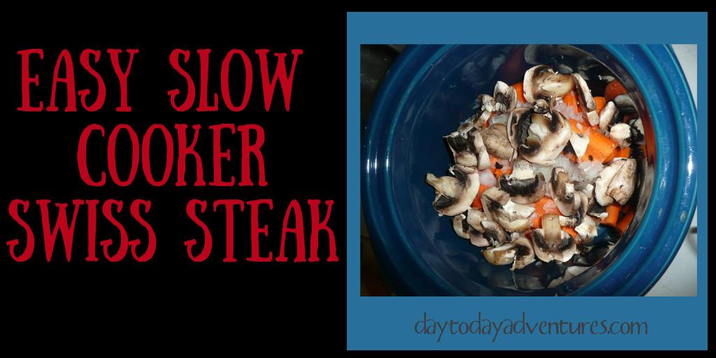 Swiss Steak Crockpot Meal - DaytoDayAdventures.com