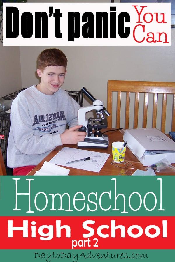 Home School High School part 2 - DaytoDayAdventures.com