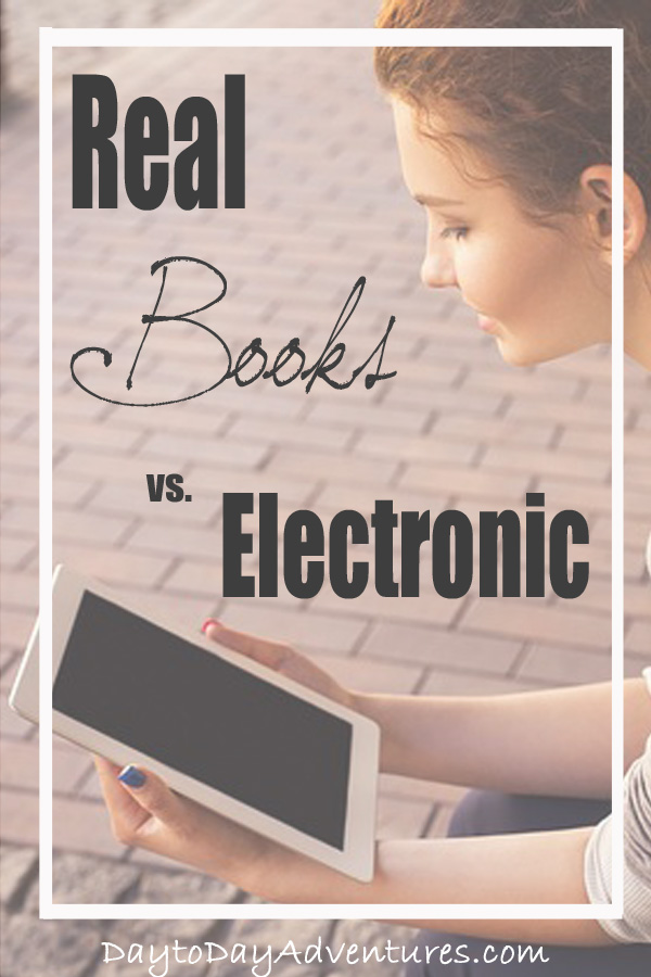 Is there a slow shift from physical books to electronic books happening?  See why wI am using electronic books more lately - DaytoDayAdventures.com