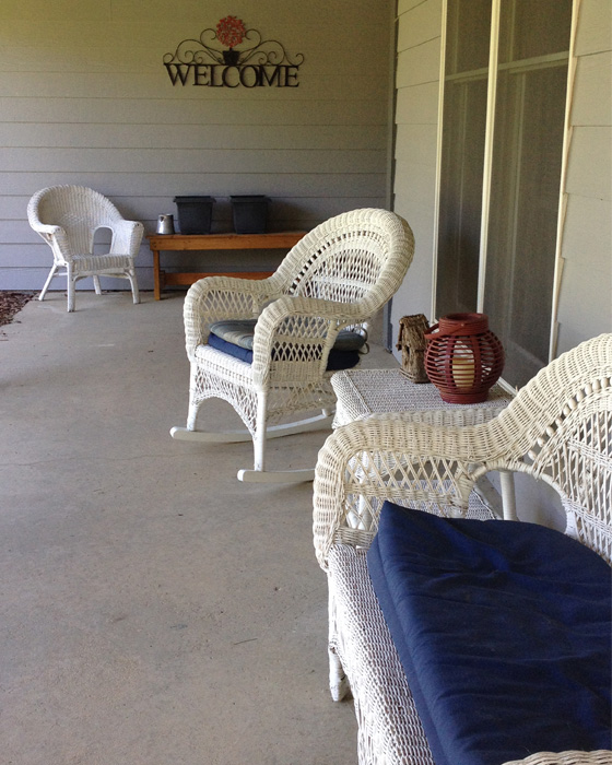 Do you have a favorite place?  Mine is my front porch.  It's my favorite retreat on a hot day. - DaytoDayAdventures.com