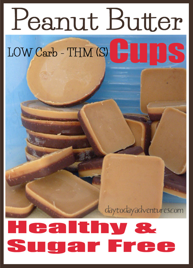 Do you love peanut butter?  Yeah me too!  But there's too much sugar in pb cups for me!  Check oiut this healthy recipe!  - DaytoDayAdventures.com