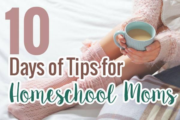 10 Days of Tips for Homeschool Moms - DaytoDayAdventures.com
