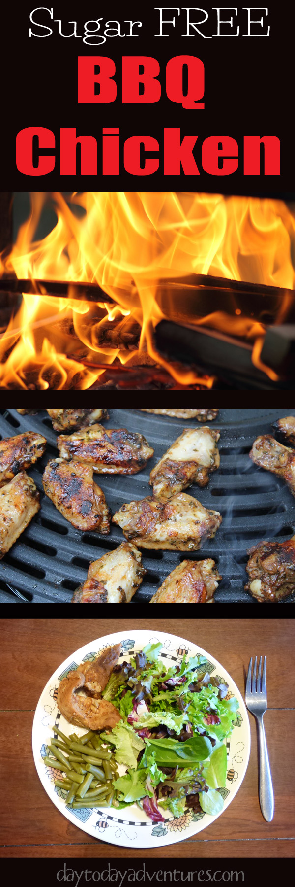 Love BBQ but hate the high carb count?  Me too!  Check out this sugar freee recipe for BBQ Chicken.  Great freezer meal and it works in the slow cooker or skillet! - DaytoDayAdventures.com