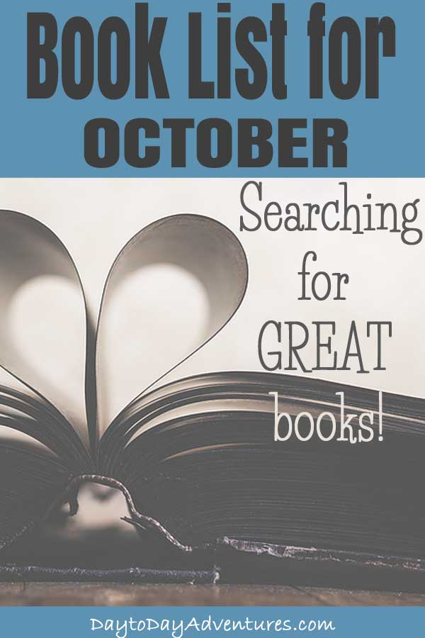 Searching for some great book to read?  Check out this October book list - DaytoDayAdventures.com