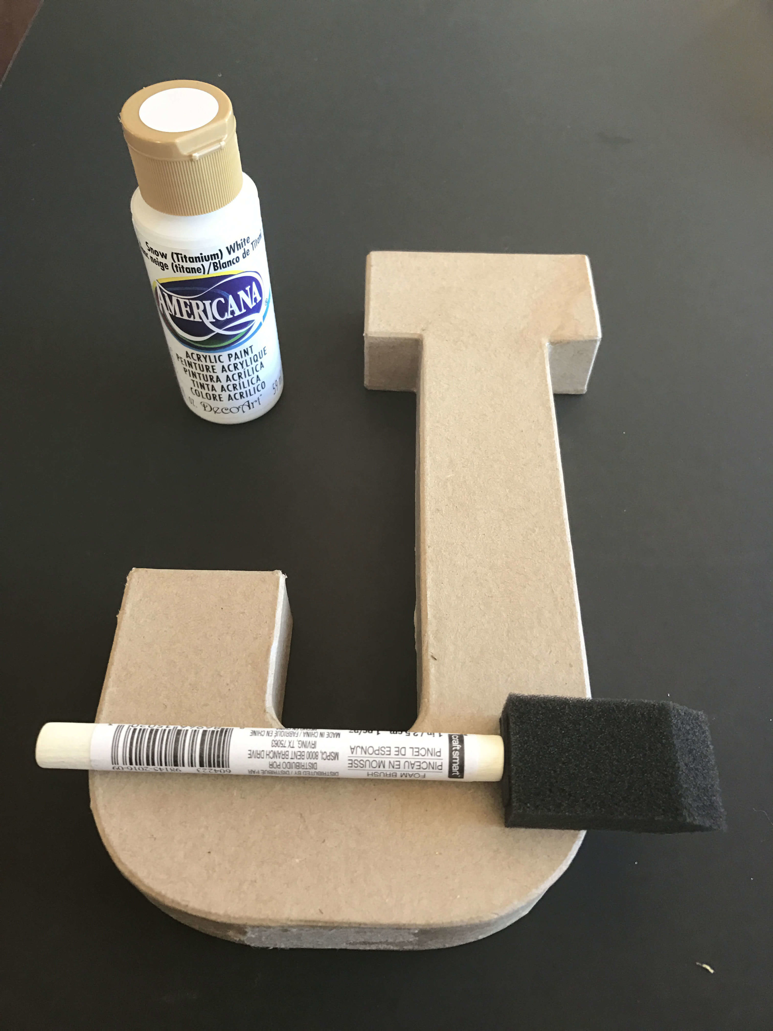 How to make glitter letters for your Christmas decorating!  Fast easy decor bling filled project! - DaytoDayAdventures.com
