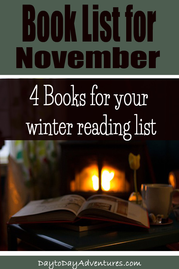 Need some books for your winter reading list?  Check out these 4 books! - DaytoDayAdventures.com