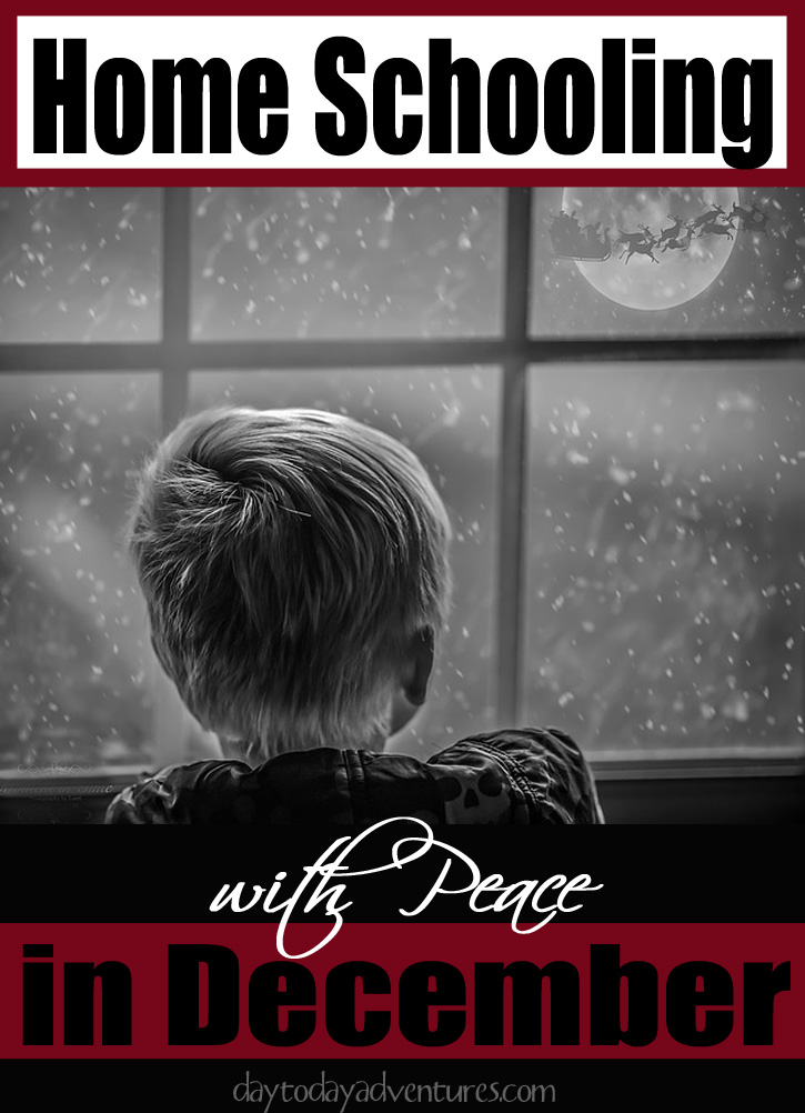 How to homeschool with peace in December - DaytoDayAdventures.com